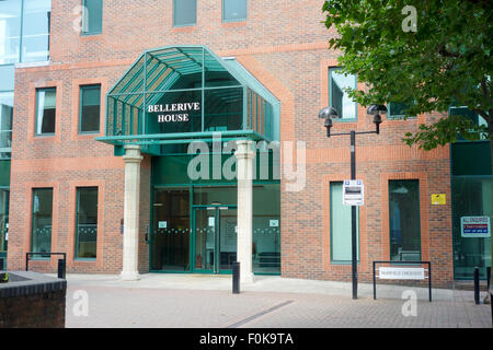 Bellverive House, a modern office building based in South Quay in London. - Stock Image