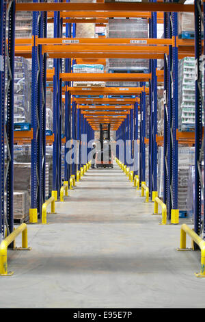 Storage warehouse forklift truck racking store - Stock Image