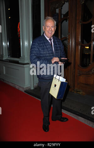 'Fortnum and Mason: Christmas and Other Winter Feasts' book launch in London  Featuring: Gyles Brandreth Where: London, United Kingdom When: 17 Oct 2018 Credit: WENN.com - Stock Image