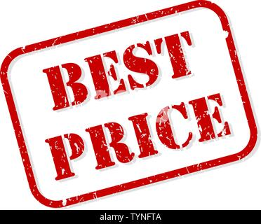 Best price red rubber stamp vector isolated - Stock Image