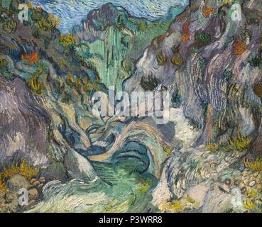 Ravine, Vincent van Gogh, 1889, Museum of Fine Arts, Boston, Mass, USA, North America - Stock Image