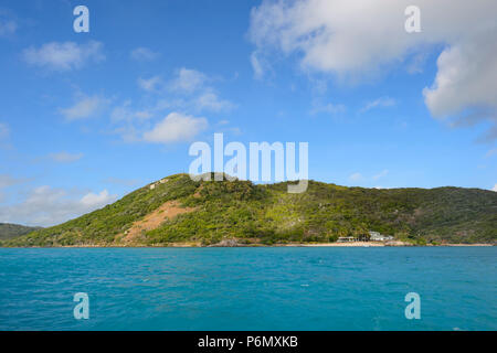 View of Prince of Wales island, Torres Strait Islands, Far North Queensland, FNQ, QLD, Australia - Stock Image