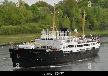 Nordstjernen passing the Kiel Canal - Stock Image