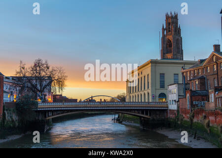 'Boston Stump', St. Botolph's church, Boston, on the Haven, River Witham, Lincolnshire, England, Assembly - Stock Image