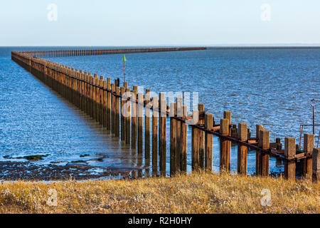 The Shoeburyness Defence boom. - Stock Image