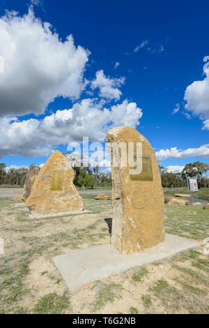 Gunnewin soldier settlement momorial, South West Queensland, QLD, Australia - Stock Image