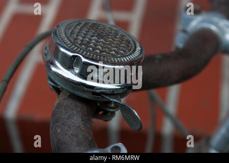 Old bicycle bell - Stock Image