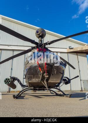 Kiowa Warrior OH-58D helicopter OH58D HRZ Croatian Air Force Zemunik near Zadar public display - Stock Image