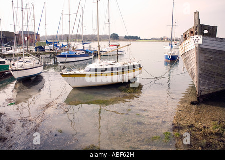 Boats at Dell Quay Chichester Harbour Sussex - Stock Image