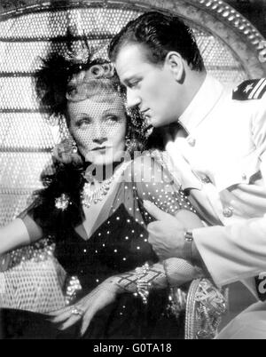 Marlene Dietrich and John Wayne / Seven Sinners / 1940 directed by Tay Garnett (Universal Pictures) - Stock Image