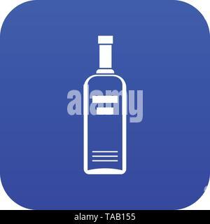 Bottle of vodka icon digital blue - Stock Image