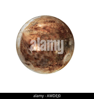 The Pluto is a dwarf planet which is somewhat smaller than the earth moon - Stock Image