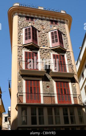 Casa de las Medias, Carrer de Colom, Palma, Mallorca, Spanien.   Casa de las Medias, Carrer de Colom, Palma, Majorca, - Stock Image