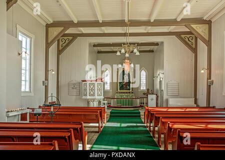 Interior Of The Parish Church At Honningsvag, Norway - Stock Image