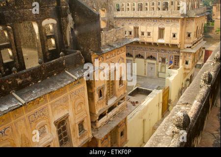 Old haveli architecture, Mandawa, Shekawati region, Rajasthan India - Stock Image