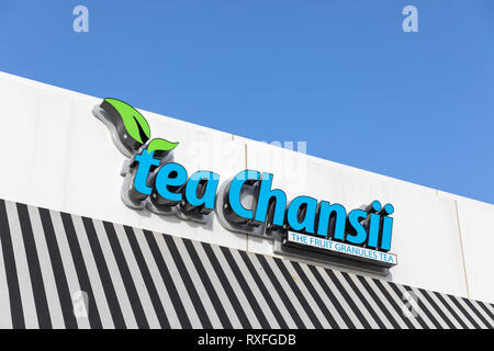Tea Chansii – The Fruit Granules Tea, Cupertino, California, USA - Stock Image
