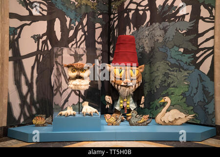 A display at the entrance to an exhibition of Maurice Sendak's designs for opera and ballet at the Morgan Library & Museum in Manhattan. - Stock Image