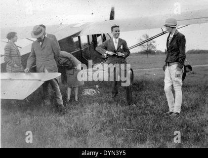 AL009B 118 Grover Loening and Amelia Earhart Hicksville Aviation Country Club, Hicksville, NY - Stock Image