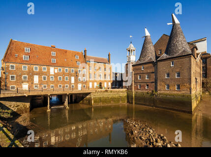 Three Mills Island, Clock Mill, River Lee, Bromley-by-Bow, Newham, East London. - Stock Image