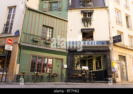Odette - pastry shop on Rue Galand in the 5th arrondissement of Paris, France. - Stock Image