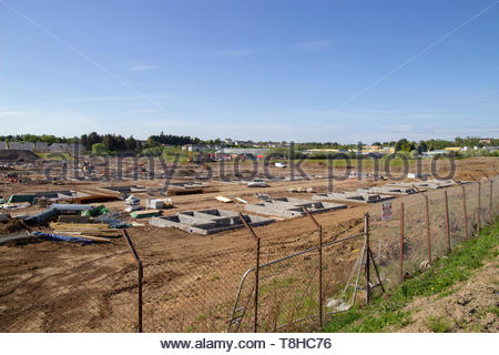 Building site in East Kilbride - Stock Image