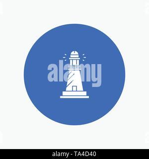 Lighthouse, House, Light, Beach, Ocean - Stock Image