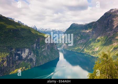 Geirangerfjord, Western fjords, Norway - Stock Image