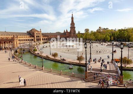 Plaza De Espana, Seville, Spain - Stock Image