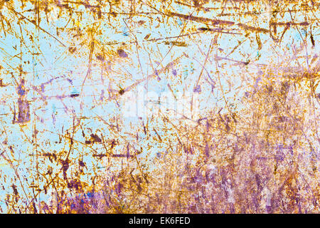 A rusty metal sheet as a background image - Stock Image
