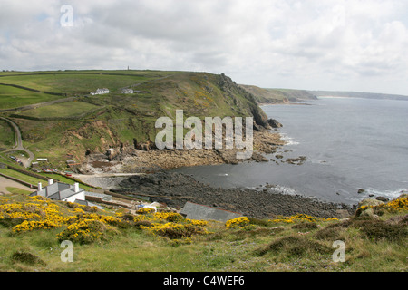 A View from Cape Cornwall Towards Land's End, Cornwall, UK - Stock Image