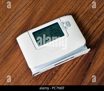 Honeywell Model CM927 Portable Room Thermostat. - Stock Image