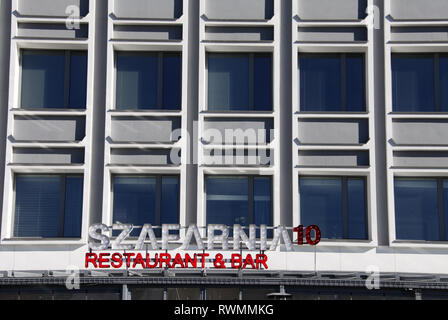 Szafarnia 10 Restaurant and Bar in Gdansk - Stock Image