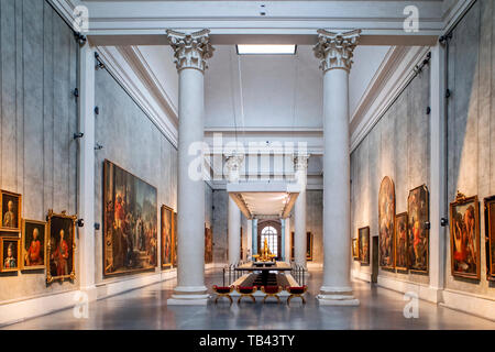 Italy Emilia Romagna Parma Museum Pole of the Pilotta - National Gallery -Salon of Marie Louise of Habsburg - Stock Image