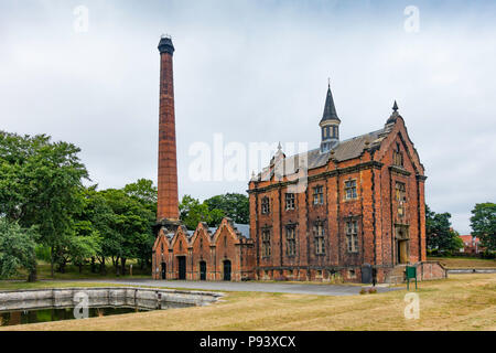 External view of the Ryhope Engines Museum a Grade 2* listed former steam powered water pumping station  built in 1868 to supply water to Sunderland - Stock Image
