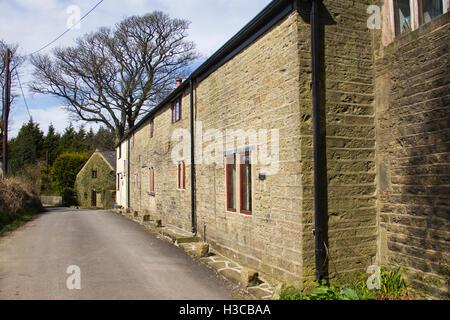Farm buildings adjacent to Edge Lane, Entwistle. Entwistle is a hamlet near Edgworth, Lancashire. - Stock Image