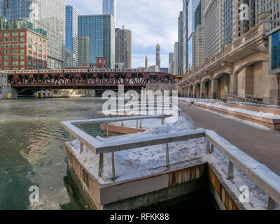 Chicago Riverwalk. - Stock Image