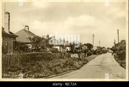 Bray's Lane, Ashingdon, near Rochford, Essex. - Stock Image