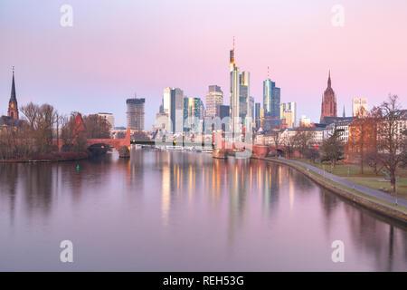 Frankfurt am Main in the morning, Germany - Stock Image