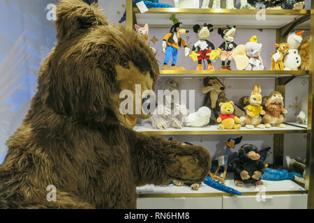 FAO Schwarz is a famous American Toy Store, Rockefeller Center, New York City, USA - Stock Image
