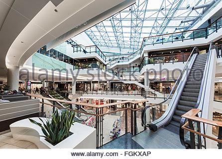 Shopping mall Viru Keskus in Tallinn, Estonia - Stock Image