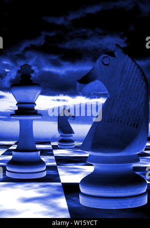 Surreal Chess Game - Stock Image