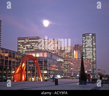 France Paris La Defense Calder red metal sculpture skyline - Stock Image