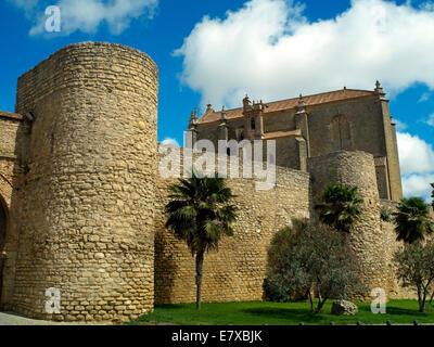 The walls and Holy Spirit church of Ronda - Stock Image