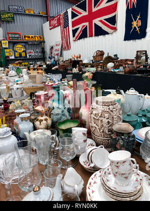 Antiques Market or Junk Shop full of old items for sale. - Stock Image