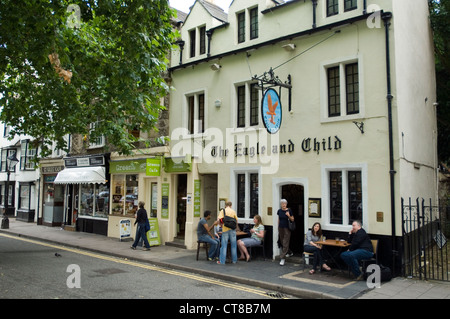 The Eagle and Child public house, St Giles, Oxford. Tolkien, the Lord of the Rings author and C.S. Lewis were regulars. - Stock Image