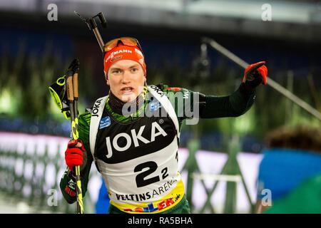Benedikt Doll (GER). JOKA Biathlon World Team Challenge 2018 auf Schalke. - Stock Image