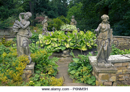 Classical statues in Statue Garden at Belvoir Castle, Leicestershire, England, UK - Stock Image