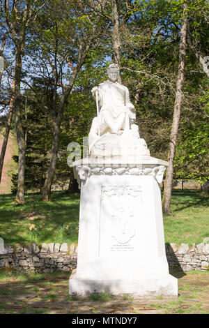 The James Hogg Monument, memorial sculpture to the The Ettrick Shepherd, Tibbie Shiels, Dumfries and Galloway, Scotland, UK - Stock Image