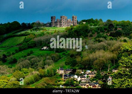 Riber Castle in Derbyshire - Stock Image
