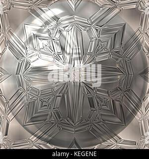 silver ornament - Stock Image